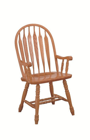 GS-CL102W02A5 - Classic Oak Monarch Arrowback Arm Chair - Oak For Less® Furniture