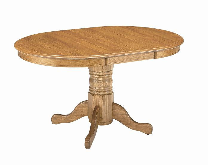 "GS-CL2T364811-CL2B364811 - 36"" x 36/48"" Classic Solid Oak Round/Oval Table - Oak For Less® Furniture"
