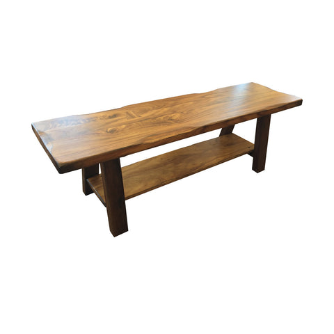 "IFD-866BENCH - 59"" Solid Parota Wood Bench with 'Live Edge' Top"