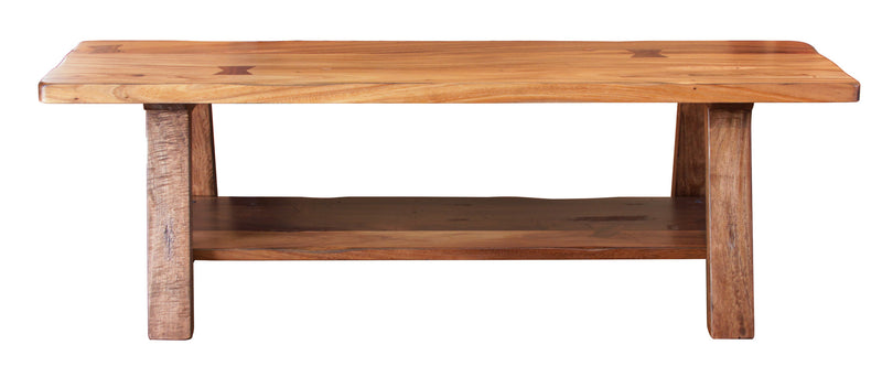 "IFD-866BENCH - 59"" Solid Parota Wood Bench with 'Live Edge' Top - Oak For Less® Furniture"