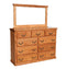 OD-O-T453 and OD-O-T454- Traditional Oak 9 Drawer Mule Chest Dresser with Mirror - Oak For Less® Furniture