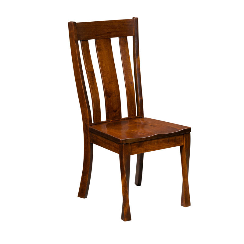 Amish made Lawson Side Chair in Solid Brown Maple - Oak For Less® Furniture