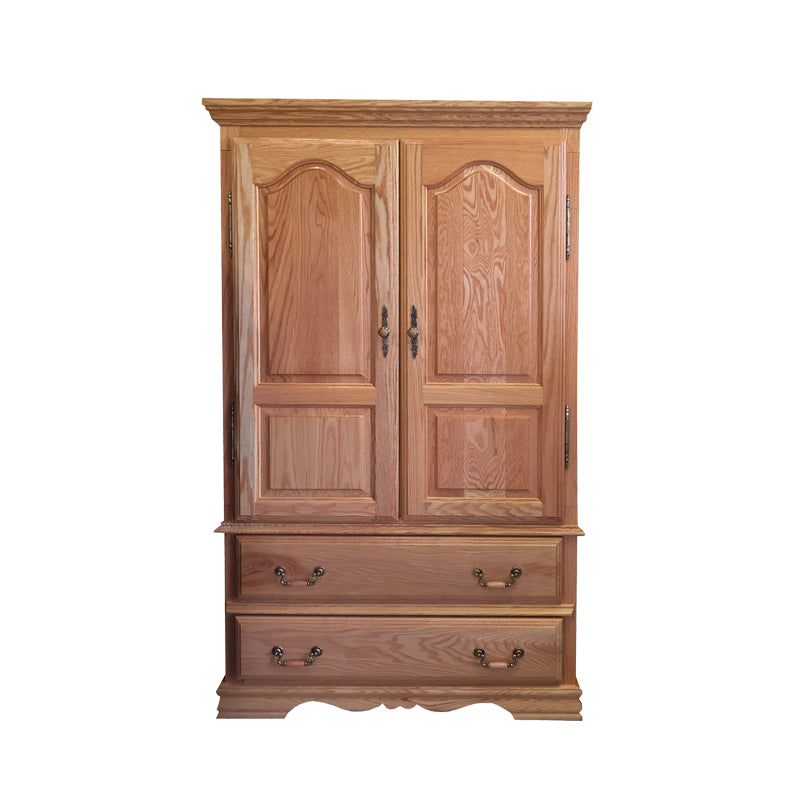 BB-508-NC - Heirloom Oak Large TV Armoire - Oak For Less® Furniture