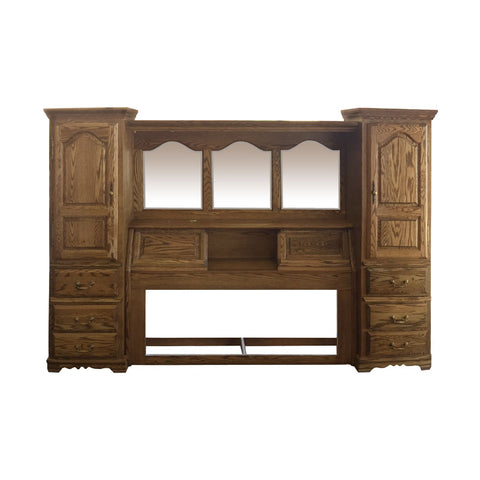 BB-600-K-N/C - Heirloom Oak Bedroom Pier Wall - King Size