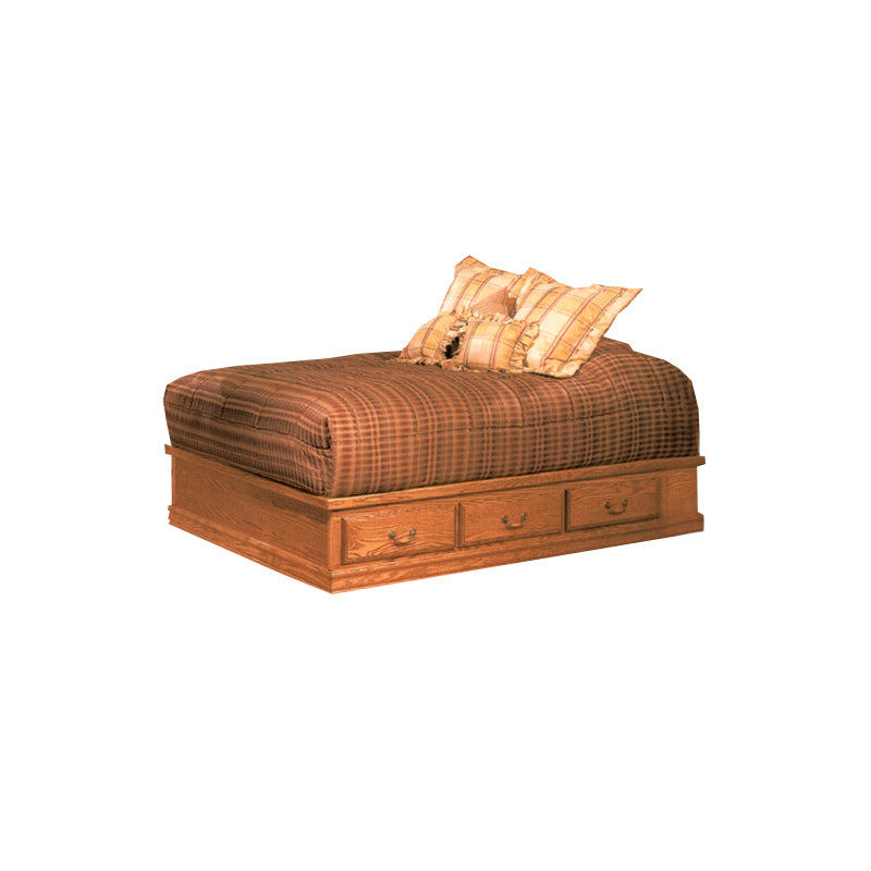 BB-690-EK - Heirloom Oak Platform Bed - E King Size - Oak For Less® Furniture