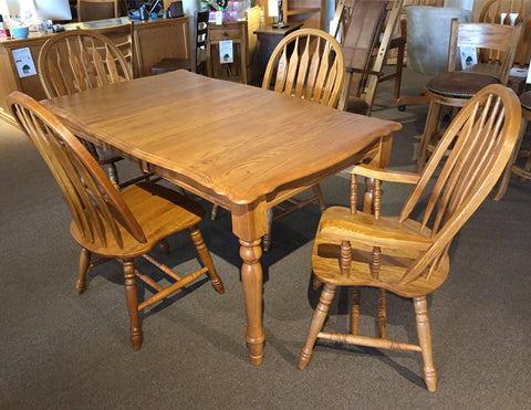 BF Golden Oak Table Set on Clearance
