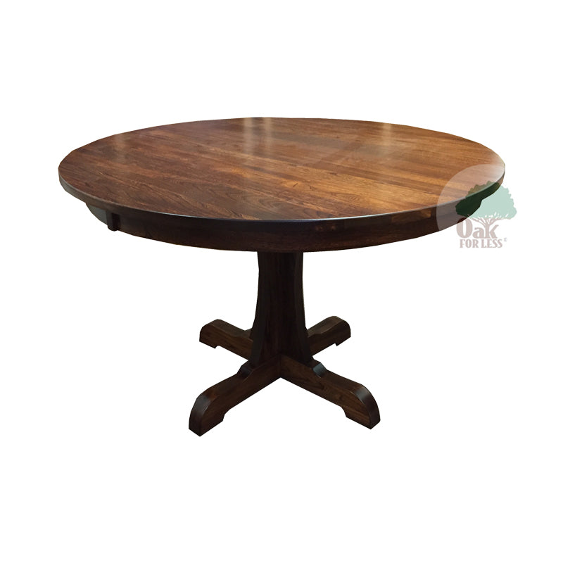 Amish made Bridgeport Pedestal Table in Solid Elm - Oak For Less® Furniture