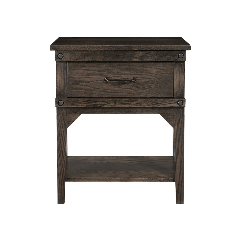 Amish made Cedar Lakes Solid Oak 1 Drawer Nightstand - Oak For Less® Furniture
