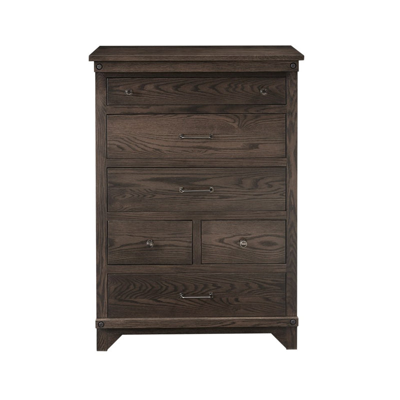 Amish made Cedar Lakes Solid Oak 6 Drawer Chest - Oak For Less® Furniture