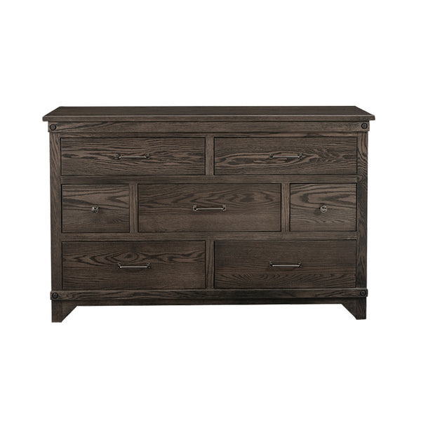 Amish made Cedar Lakes Solid Oak 7 Drawer Dresser - Oak For Less® Furniture