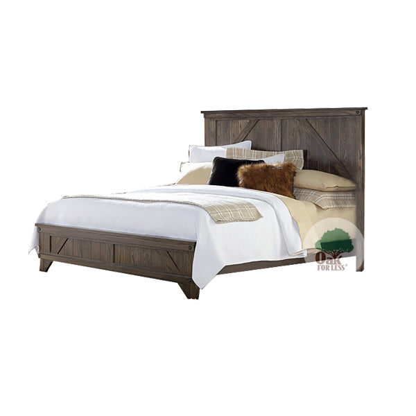 Amish made Cedar Lakes Solid Oak Bed - Queen Size - Oak For Less® Furniture