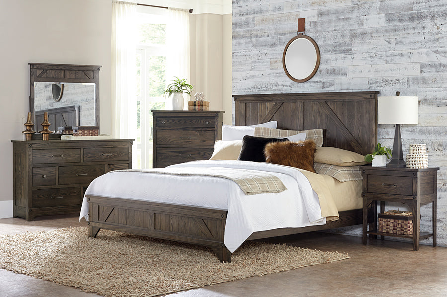 Cedar Lakes Solid Oak Bedroom Suite - Cal King Size - Oak For Less® Furniture