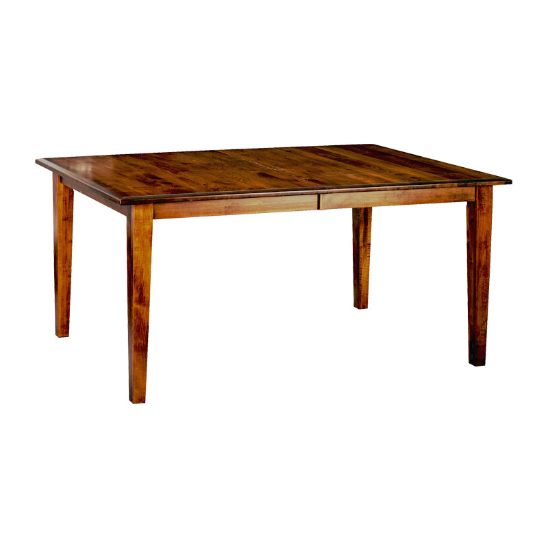 Amish made Classic 4 Leg Table in Solid Elm - Oak For Less® Furniture