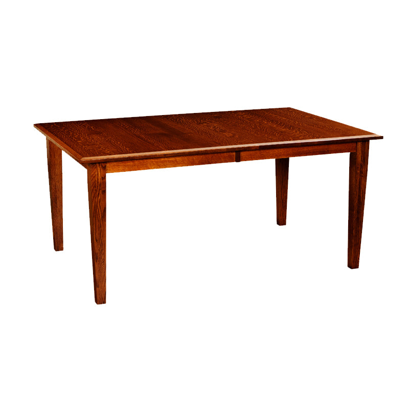 "FA-CCTB4266-2LF-QSO-MichaelsCherry - 42"" x 66/78/90"" Amish made Solid Quartersawn Oak Classic 4 Leg Table - Oak For Less® Furniture"