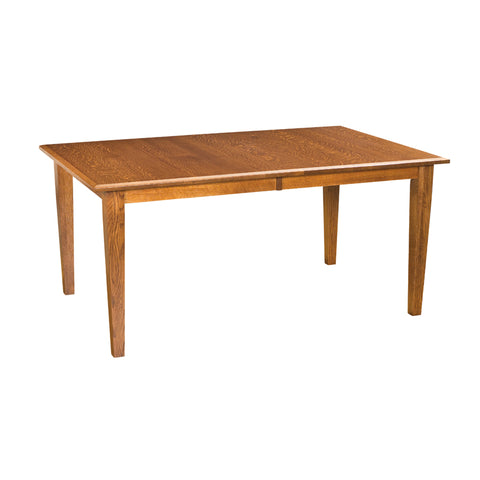 "FA-CCTB4266-2LF-QSO-Toffee - 42"" x 66/78/90"" Amish made Solid Quartersawn Oak Classic 4 Leg Table - Oak For Less® Furniture"