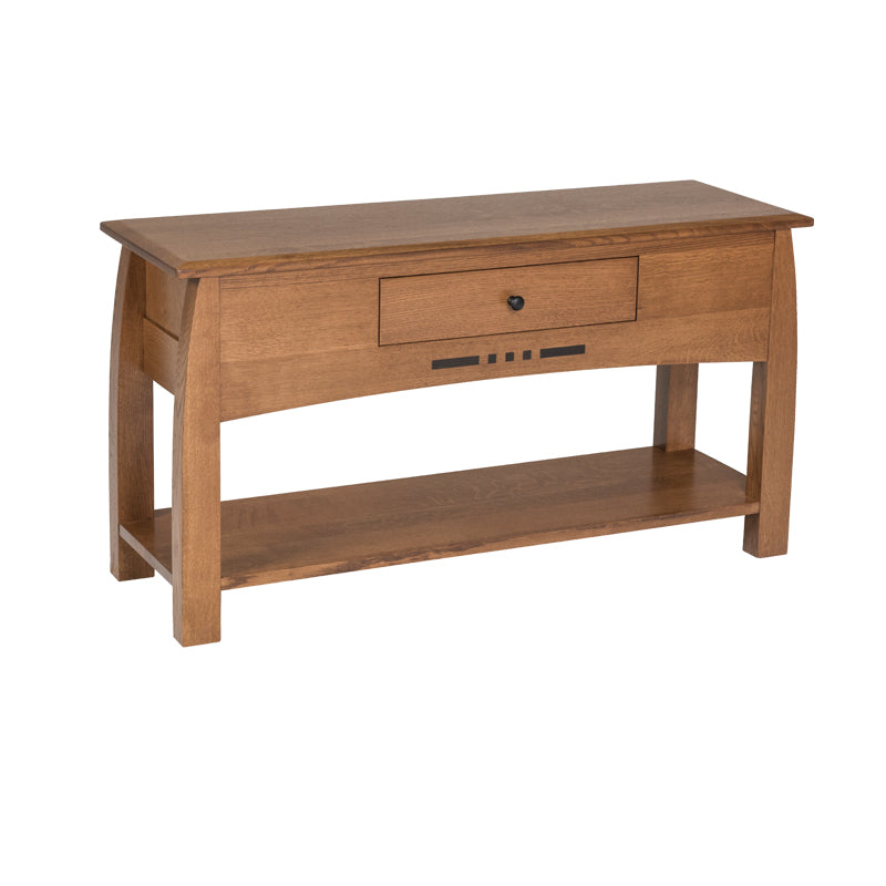 Amish Arts Crafts Sofa Table Oak For Less