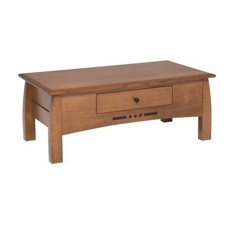 Amish made Arts & Crafts Cocktail Table | Oak For Less ® - Oak For Less® Furniture