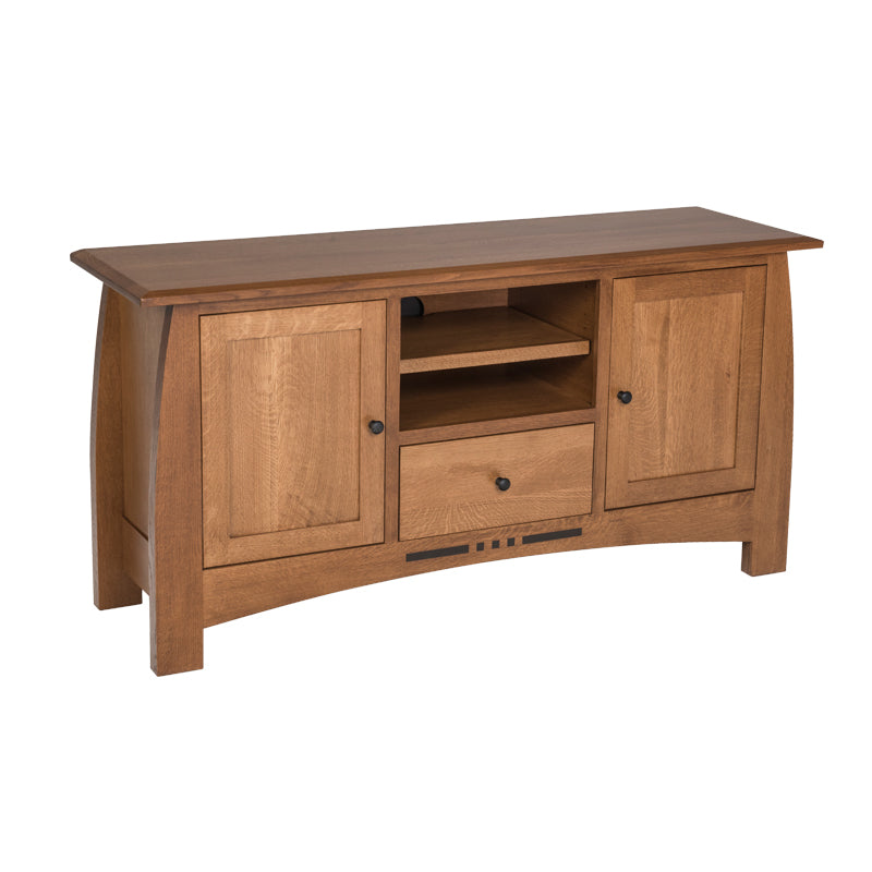 "Amish made Arts & Crafts 64"" Entertainment Console 