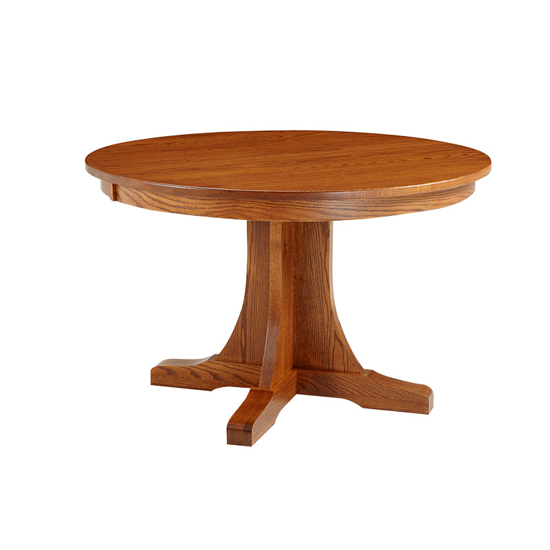 Amish made Old Mission Pedestal Table in Solid Oak - Oak For Less® Furniture