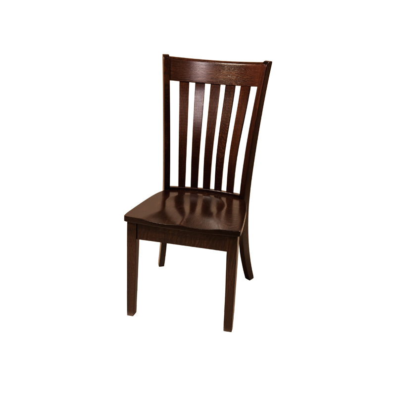 Amish made Seabury Side Chair with Wood Seat in Solid Elm - Oak For Less® Furniture