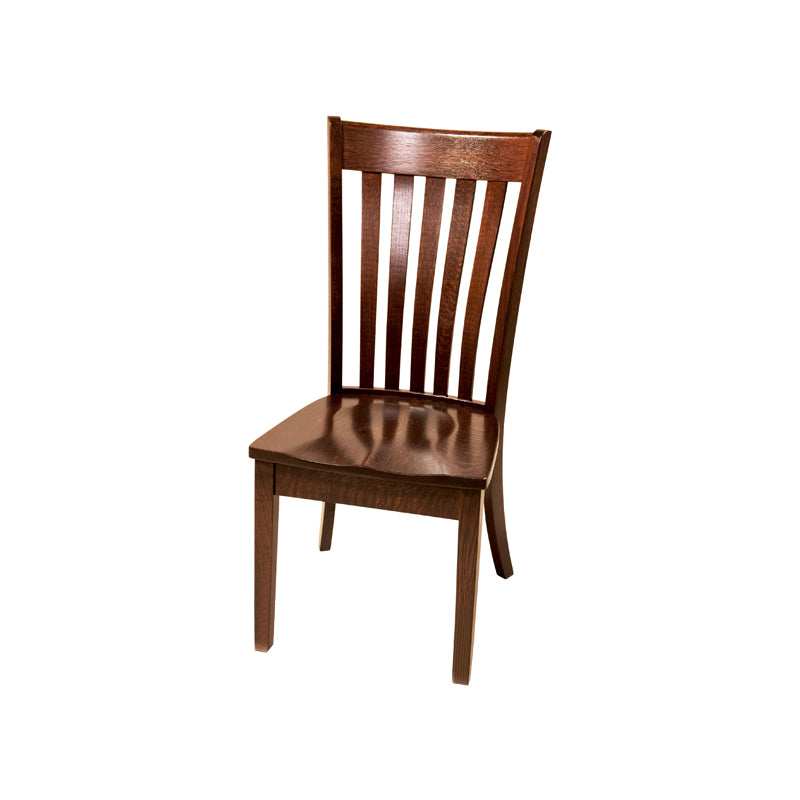Amish made Seabury Side Chair with Wood Seat in Solid Oak - Oak For Less® Furniture