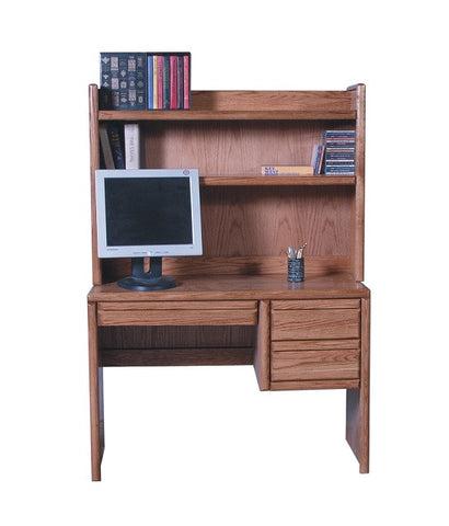 "FD-1010 and FD-1013 - Contemporary Oak 44"" Student Desk with Hutch - Oak For Less® Furniture"