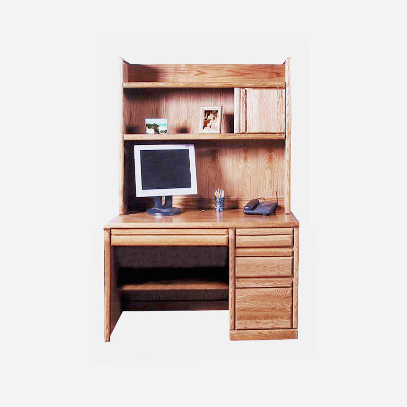 Peachy Fd 1020 And Fd 1014 Contemporary Oak 48 Student Desk With Hutch Home Interior And Landscaping Ponolsignezvosmurscom