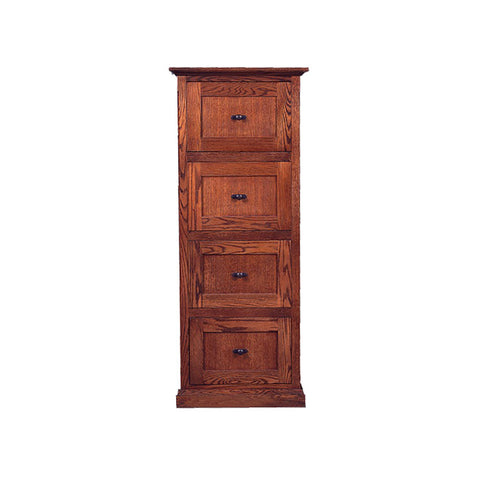 FD-1034M - Mission Oak 4 Drawer File Cabinet, Letter-Legal Size - Oak For Less® Furniture