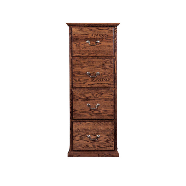 FD-1034T - Traditional Oak 4 Drawer Letter-Legal Size File - Oak For Less® Furniture