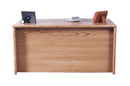"FD-1049 - Contemporary Oak 72"" Executive Desk - Oak For Less® Furniture"
