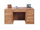 "FD-1048 - Contemporary Oak 60"" Executive Desk - Oak For Less® Furniture"
