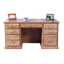 "FD-1048T - Traditional Oak 60"" Executive Desk - Oak For Less® Furniture"