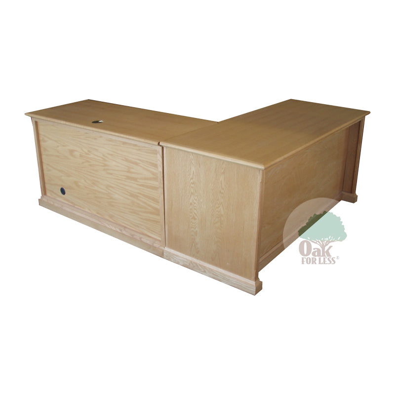 FD-1050M - Mission Oak Desk and Right Return - Oak For Less® Furniture