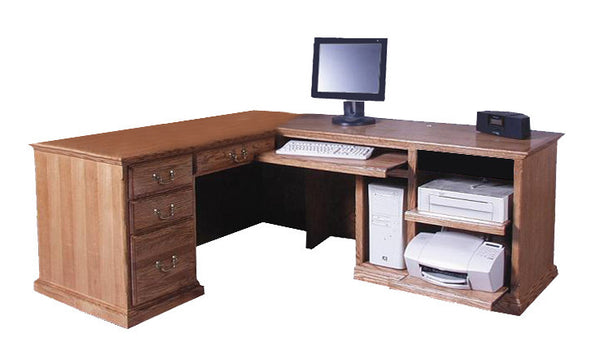 FD-1050T - Traditional Oak Desk and Right Return - Oak For Less® Furniture