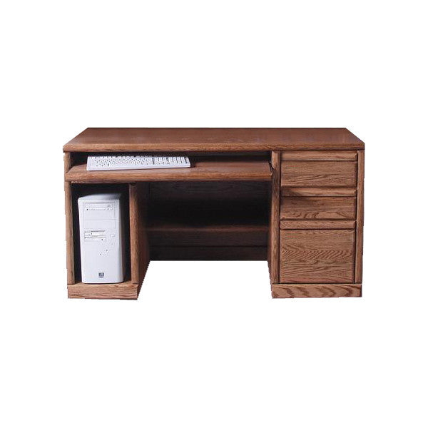 "FD-1062 - Contemporary Oak 56"" Computer Desk - Oak For Less® Furniture"