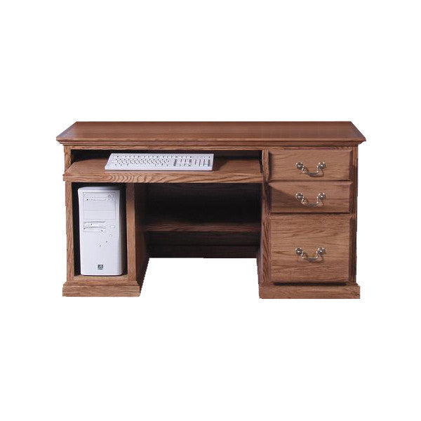 "FD-1062T - Traditional Oak 56"" Computer Desk - Oak For Less® Furniture"