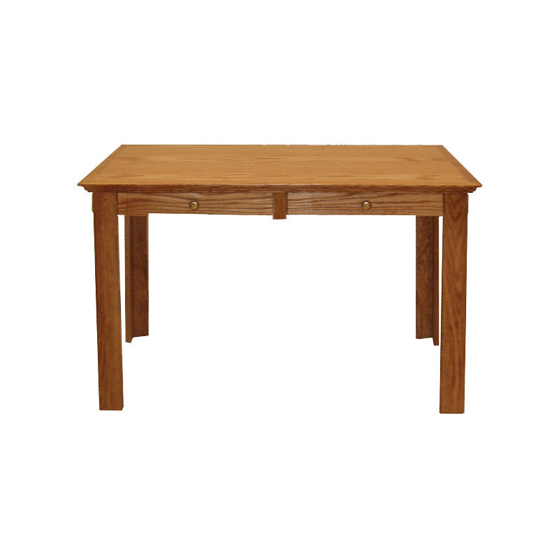 "FD-1114T - Traditional Oak 60"" Writing Desk with Drawers - Oak For Less® Furniture"