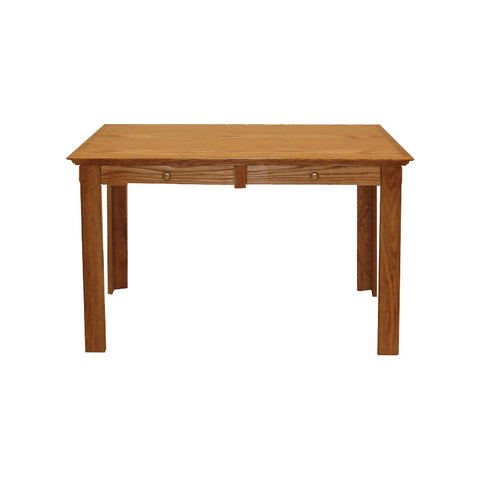 "FD-1115T - Traditional Oak Writing Desk with Drawers 66"" - Oak For Less® Furniture"