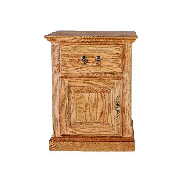Fd 2215d T Traditional Oak End Table With Raised Panel Sides Door