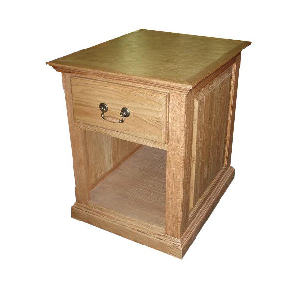 FD-2215T - Traditional Oak End Table with Raised Panel Sides - Oak For Less® Furniture