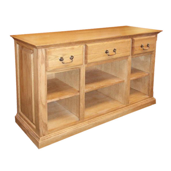 FD 2230T   Traditional Oak Sofa Table With Raised Panel Sides   Oak For Less
