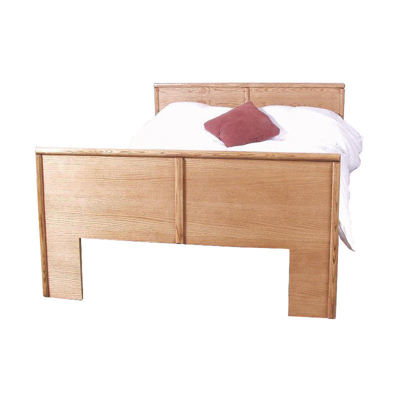 FD-3001 - Contemporary Oak Flat Panel Bed - Queen size