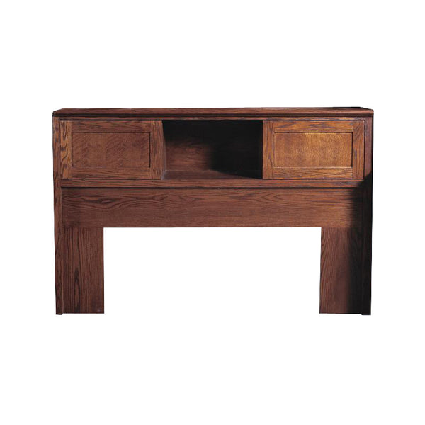 FD-3011M - Mission Oak Bookcase Headboard - Full size - Oak For Less® Furniture