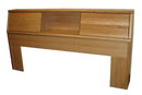 FD-3014 - Contemporary Oak Bookcase Headboard - E/Cal King size - Oak For Less® Furniture