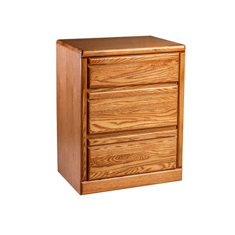 FD-3035 - Contemporary Oak 3 Drawer Nightstand - Oak For Less® Furniture