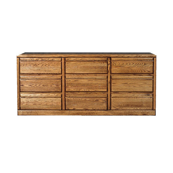 FD-3044 - Contemporary Oak 9 Drawer Dresser - Oak For Less® Furniture