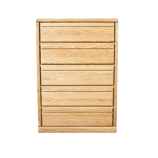 FD-3051 - Contemporary Oak 5 Drawer Chest - Oak For Less® Furniture