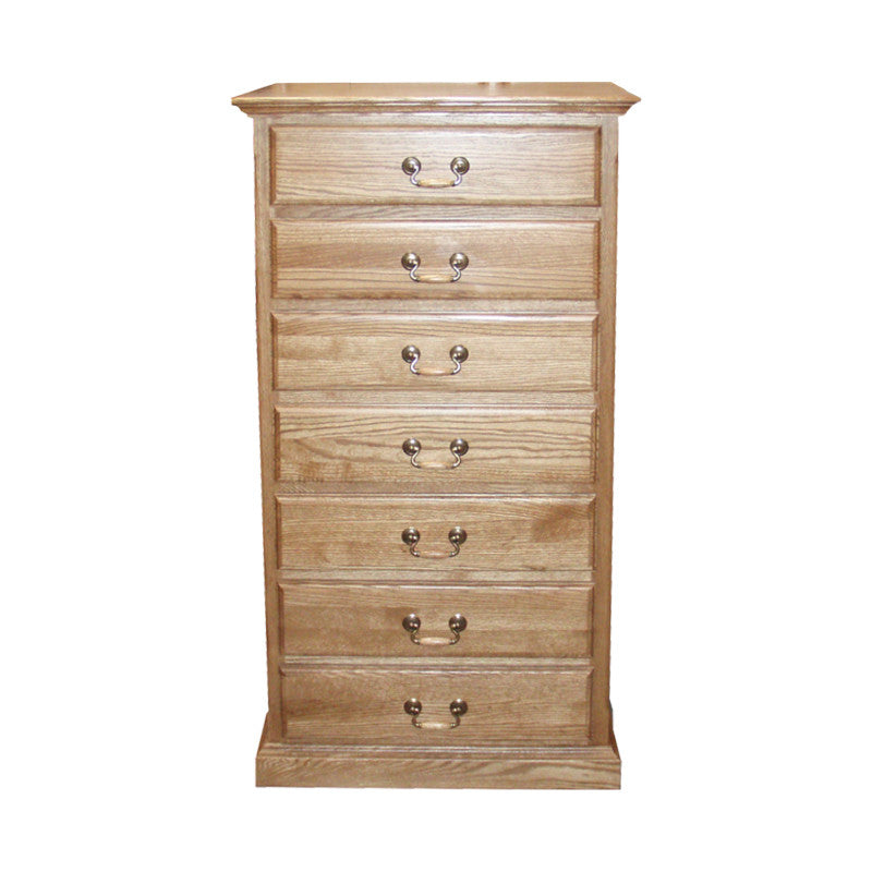 FD-3052T - Traditional Oak 7 Drawer Lingerie Chest - Oak For Less® Furniture