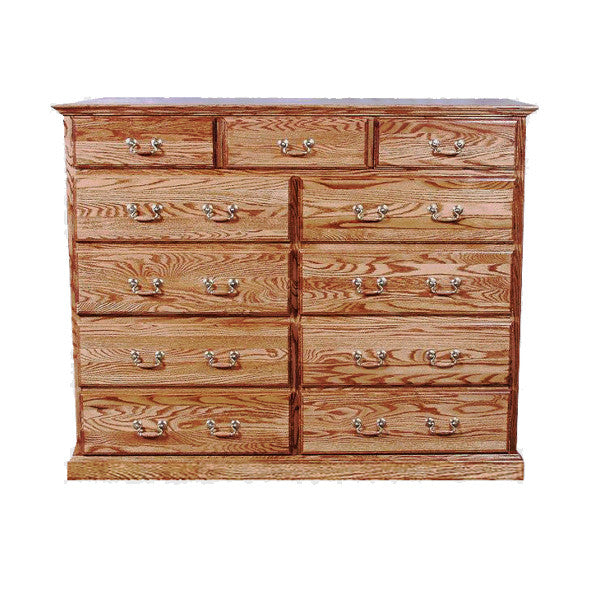 FD-3053T - Traditional Oak 11 Drawer Tall Dresser - Oak For Less® Furniture