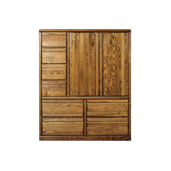 FD-3055 - Contemporary Oak 8 Drawer Clothing Armoire - Oak For Less® Furniture